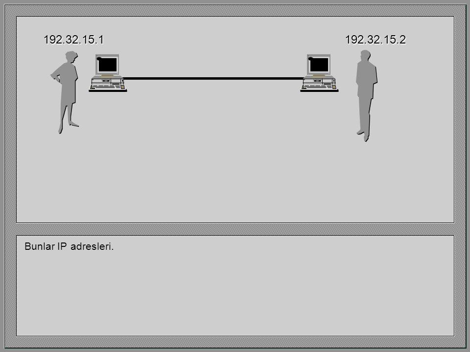 192.32.15.1 192.32.15.2 Bunlar IP adresleri.