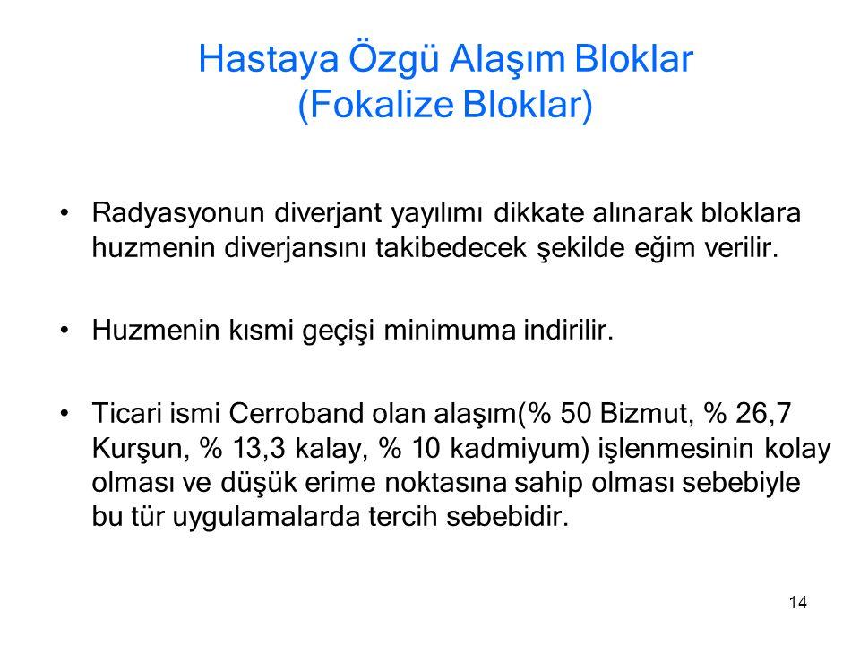 Hastaya Özgü Alaşım Bloklar (Fokalize Bloklar)