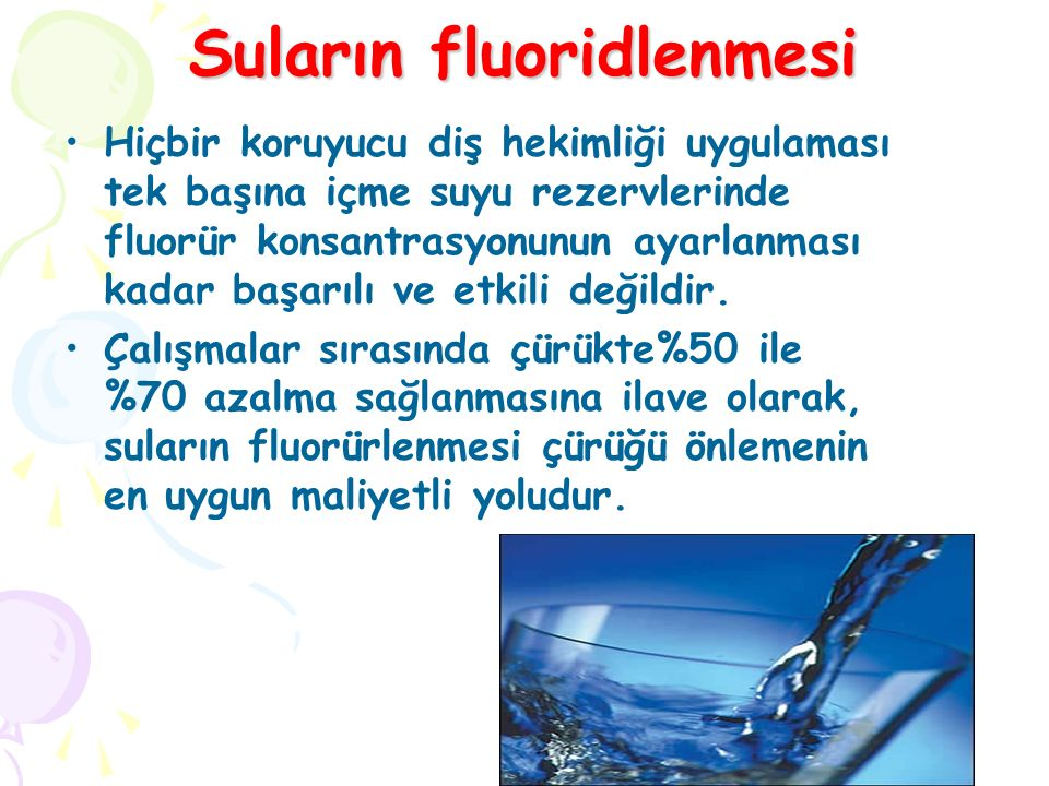 Suların fluoridlenmesi