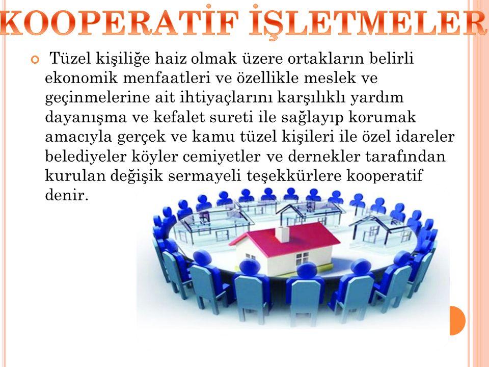KOOPERATİF İŞLETMELER