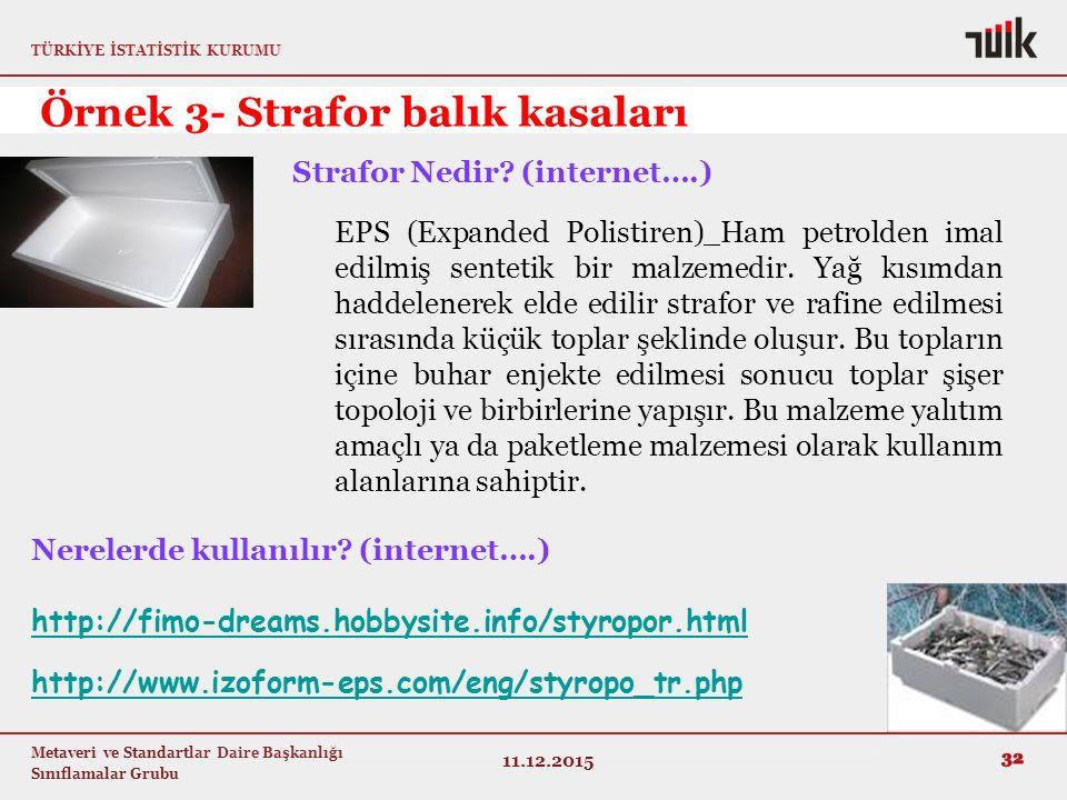 Örnek 3- Strafor balık kasaları