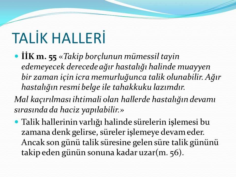 TALİK HALLERİ
