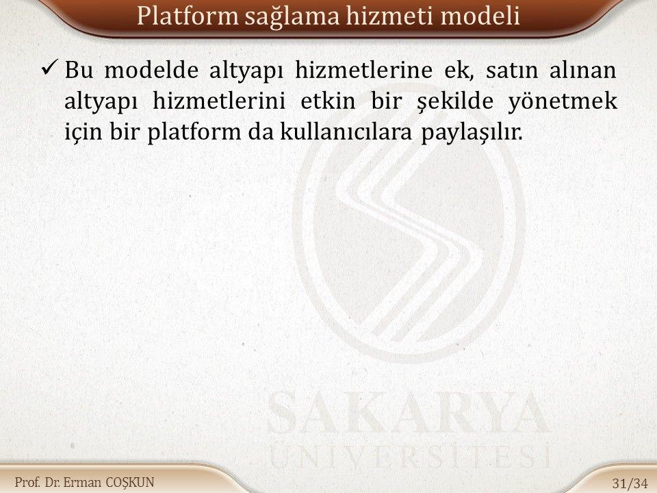 Platform sağlama hizmeti modeli