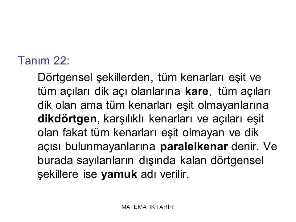 Tanım 22: