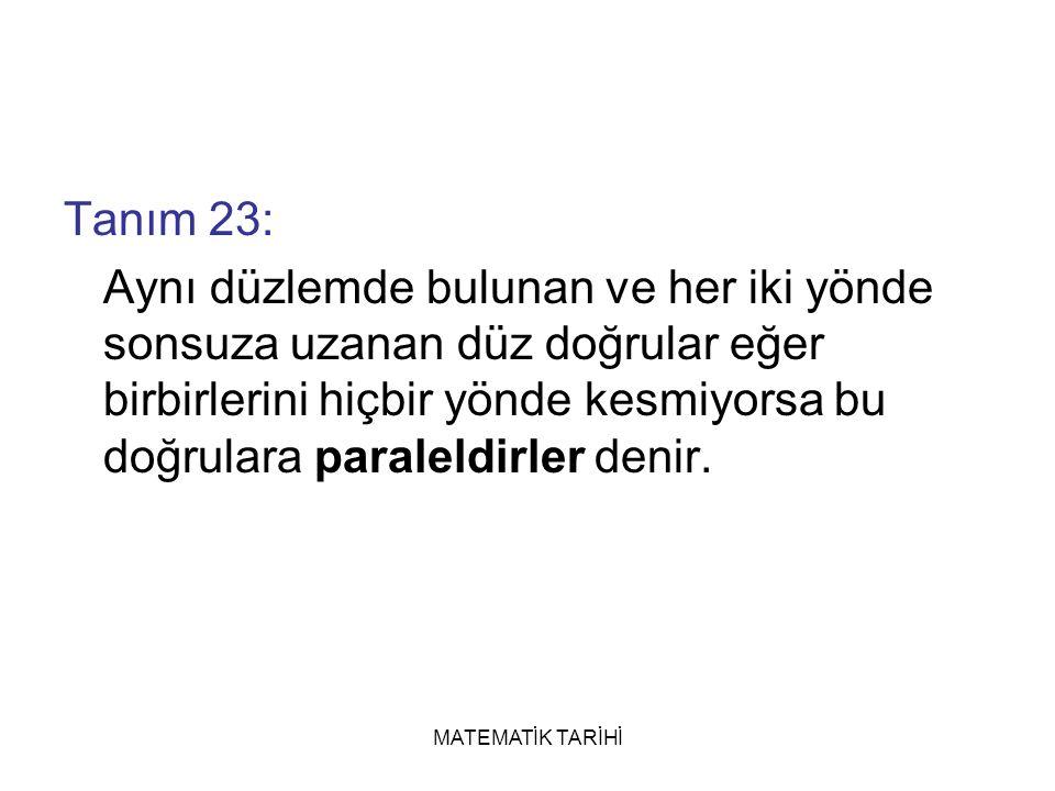 Tanım 23: