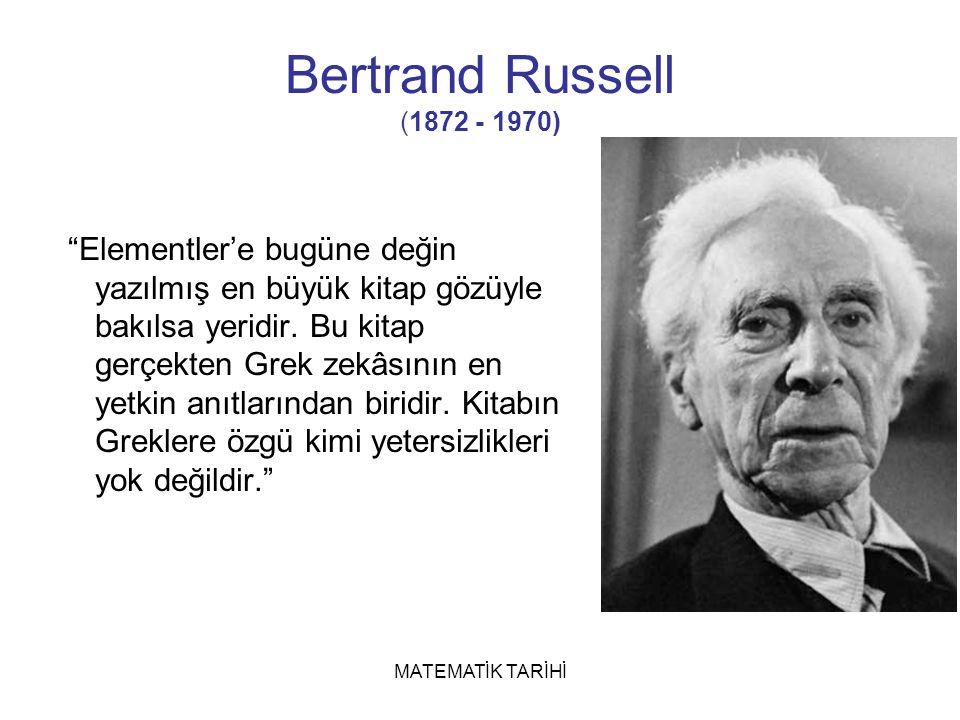 Bertrand Russell (1872 - 1970)