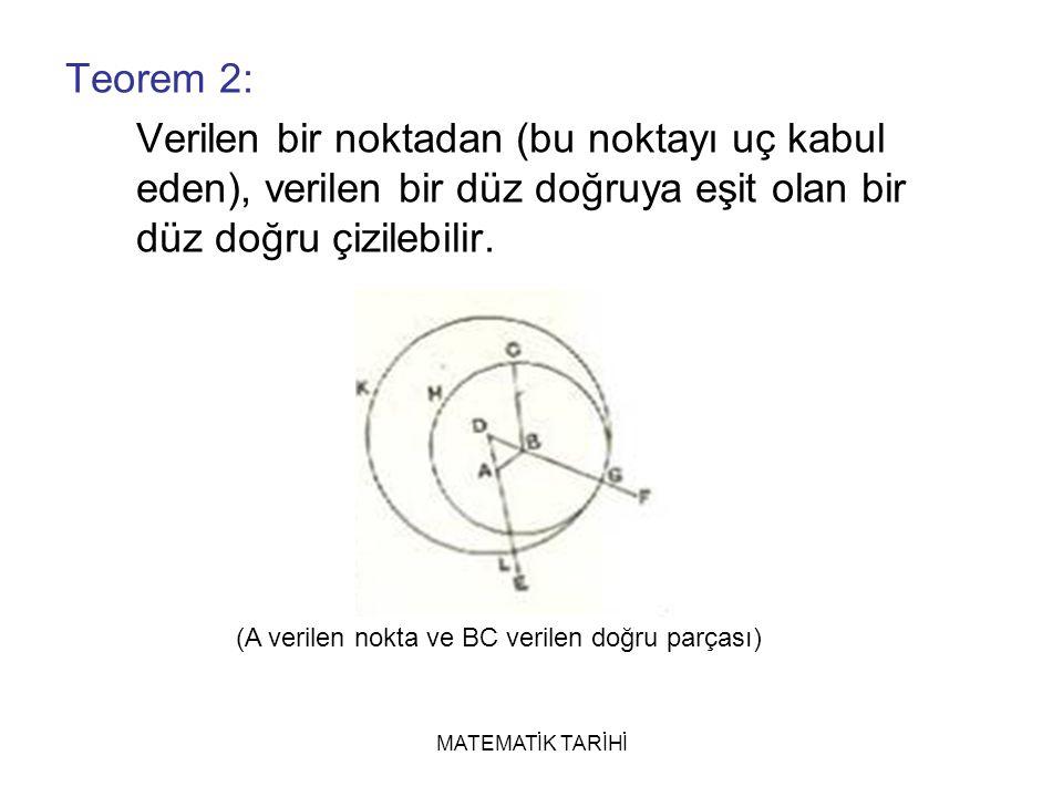 (A verilen nokta ve BC verilen doğru parçası)