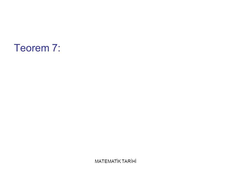 Teorem 7: MATEMATİK TARİHİ
