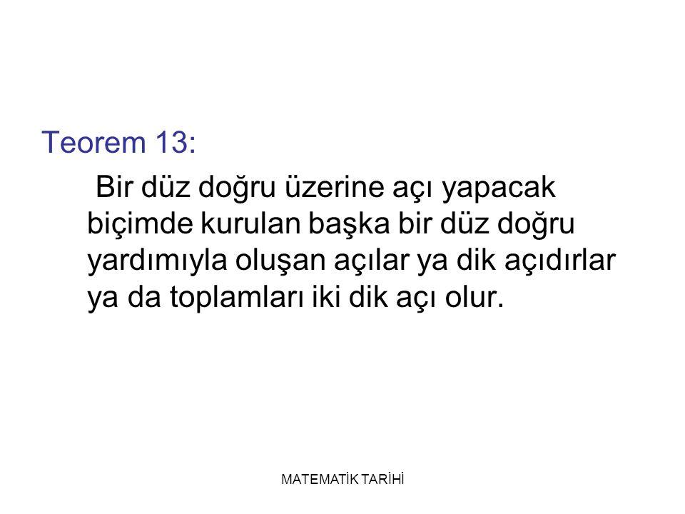 Teorem 13: