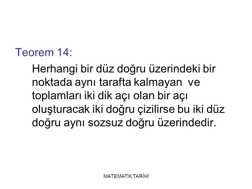 Teorem 14: