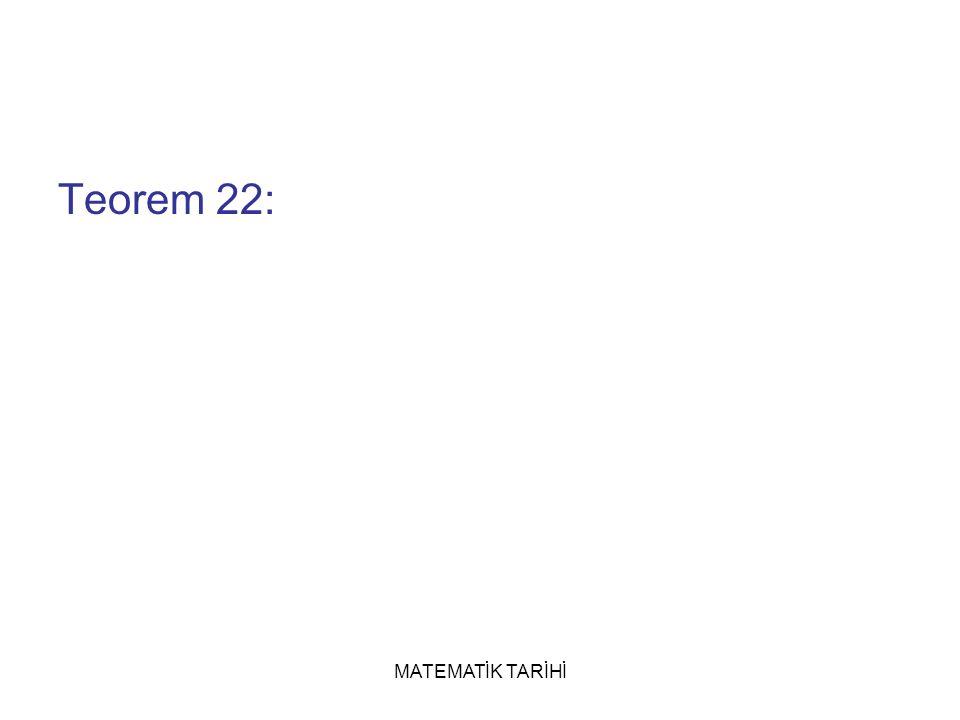Teorem 22: MATEMATİK TARİHİ