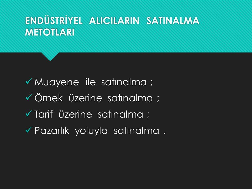 ENDÜSTRİYEL ALICILARIN SATINALMA METOTLARI