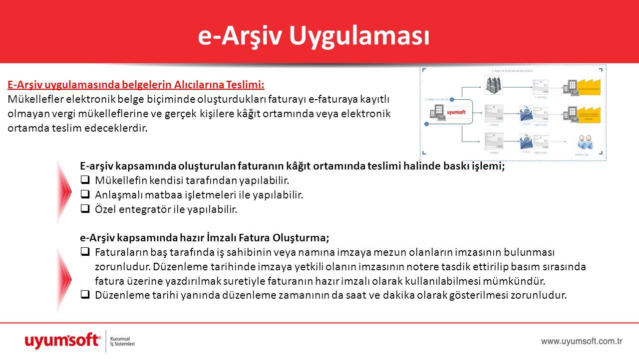e-Arşiv Uygulaması
