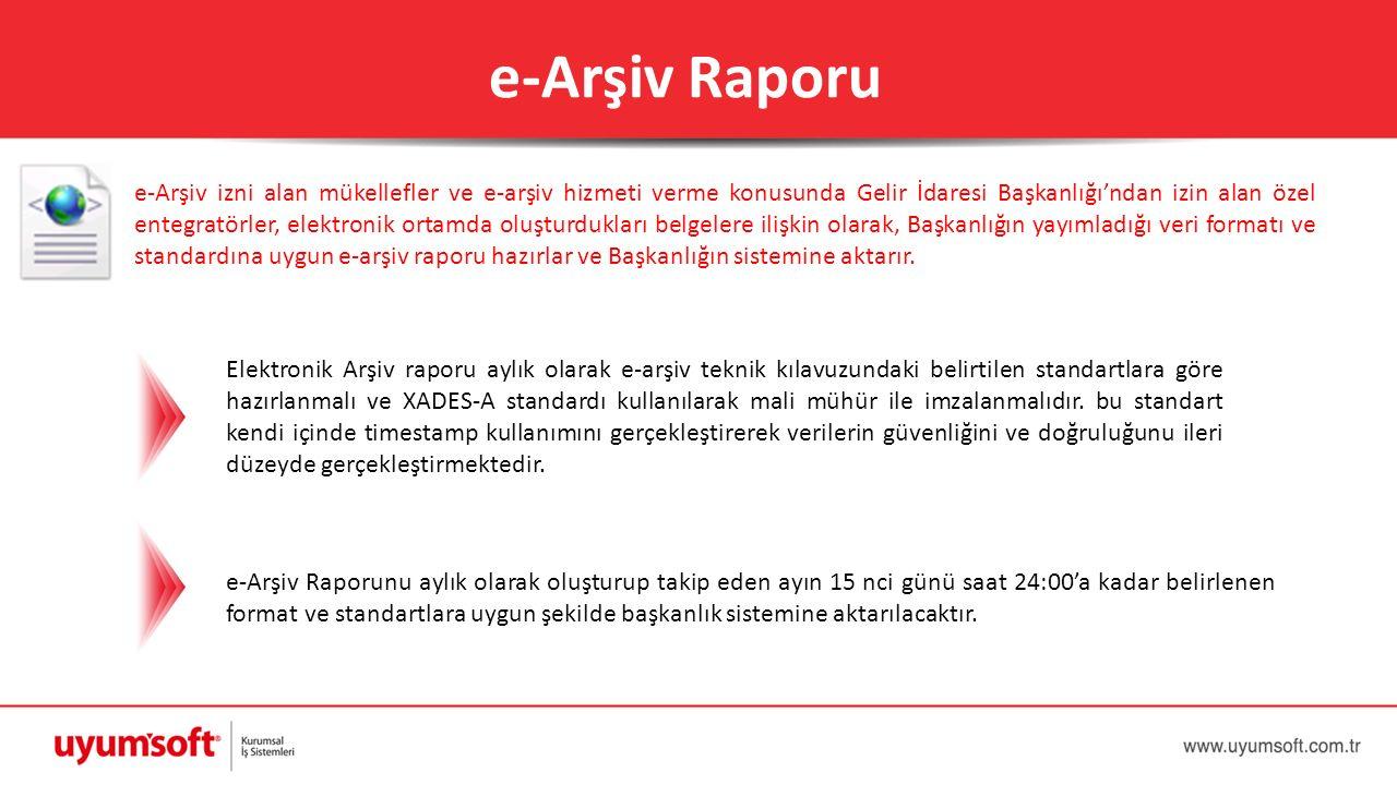 e-Arşiv Raporu