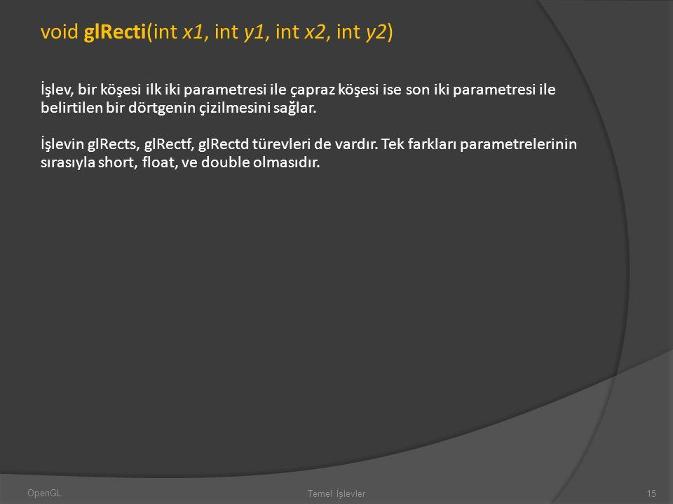 void glRecti(int x1, int y1, int x2, int y2)