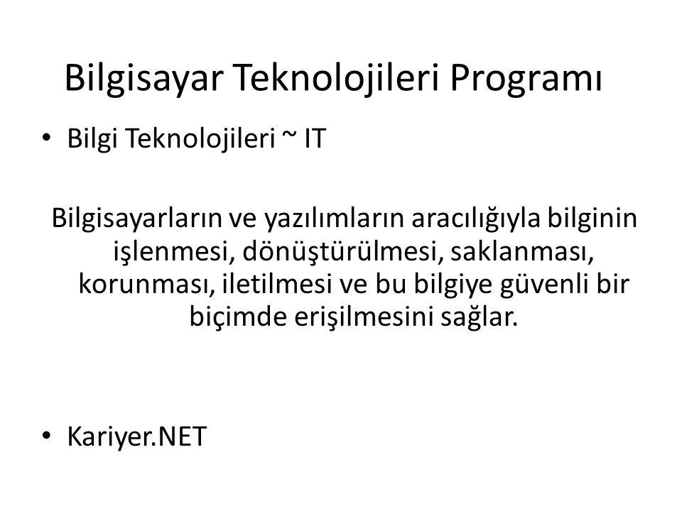 Bilgisayar Teknolojileri Programı