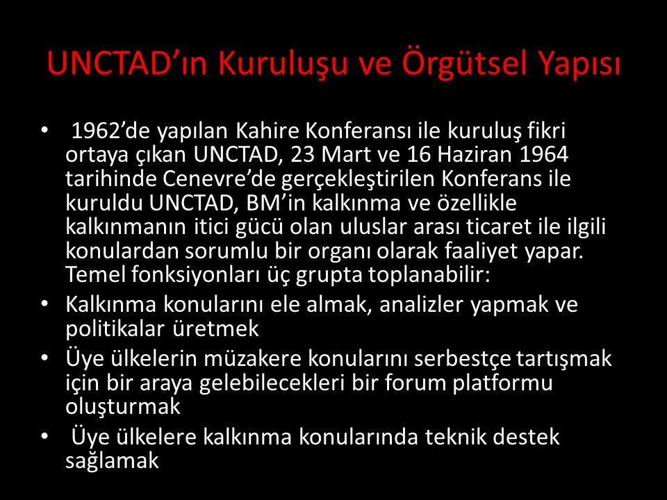 UNCTAD'ın Kuruluşu ve Örgütsel Yapısı