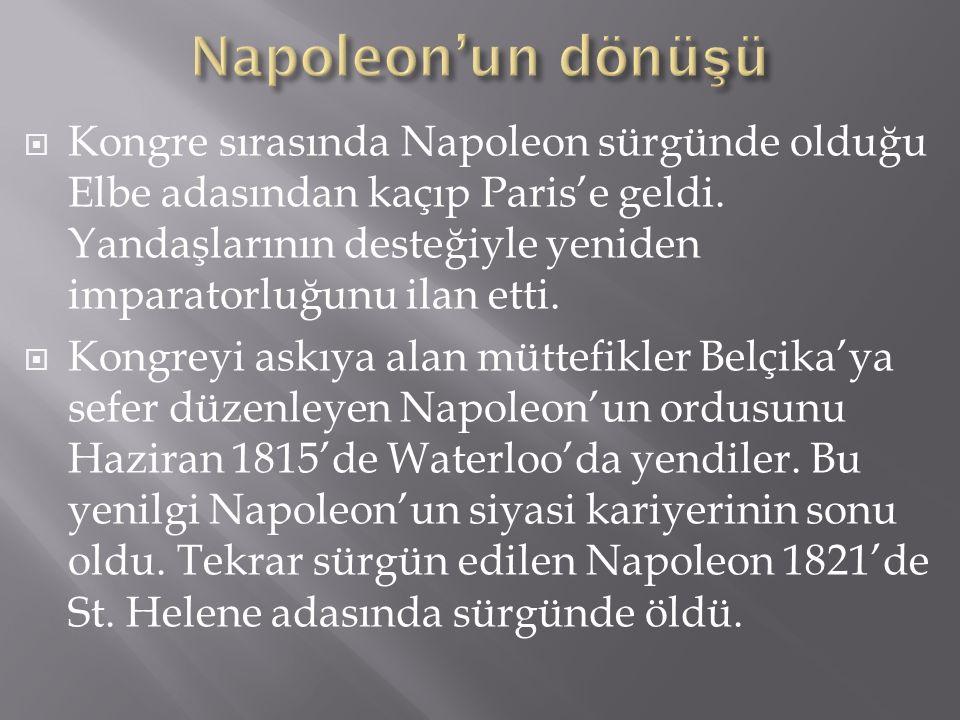 Napoleon'un dönüşü