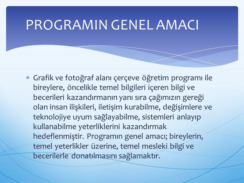 PROGRAMIN GENEL AMACI