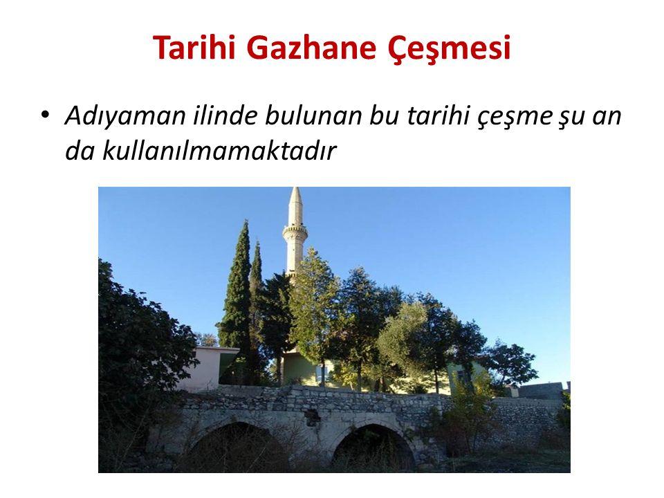 Tarihi Gazhane Çeşmesi