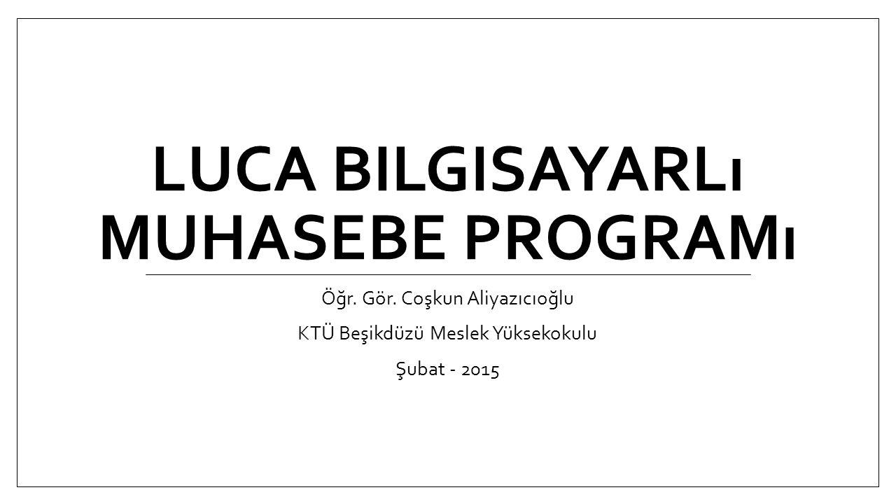 LUCA Bilgisayarlı muhasebe programı