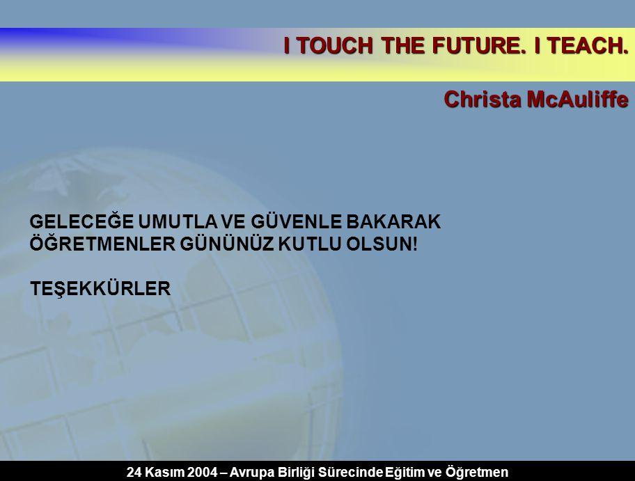 24 Kasım 2004 – Avrupa Birliği Sürecinde Eğitim ve Öğretmen
