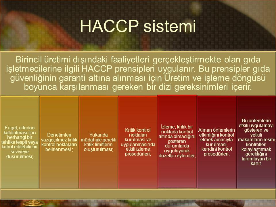 HACCP sistemi