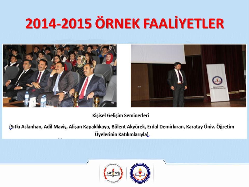 2014-2015 ÖRNEK FAALİYETLER