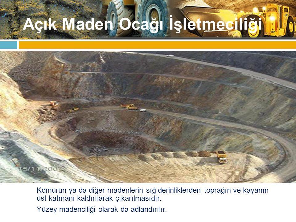 Açık Maden Ocağı İşletmeciliği