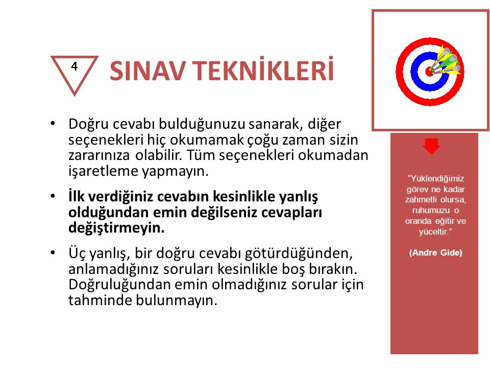 SINAV TEKNİKLERİ 4.