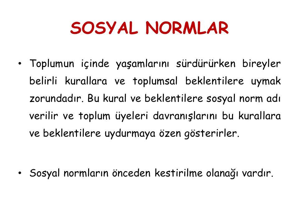 SOSYAL NORMLAR
