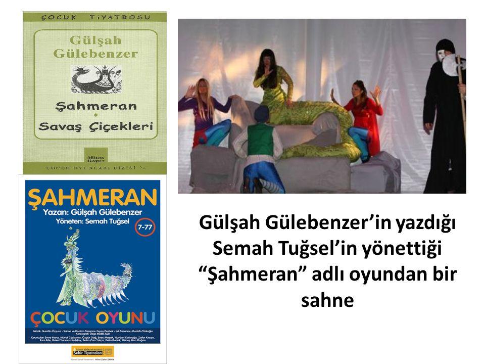 Gülşah Gülebenzer'in yazdığı Semah Tuğsel'in yönettiği Şahmeran adlı oyundan bir sahne