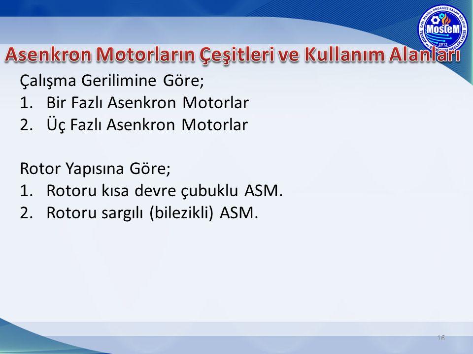 Asenkron Motorların Çeşitleri ve Kullanım Alanları