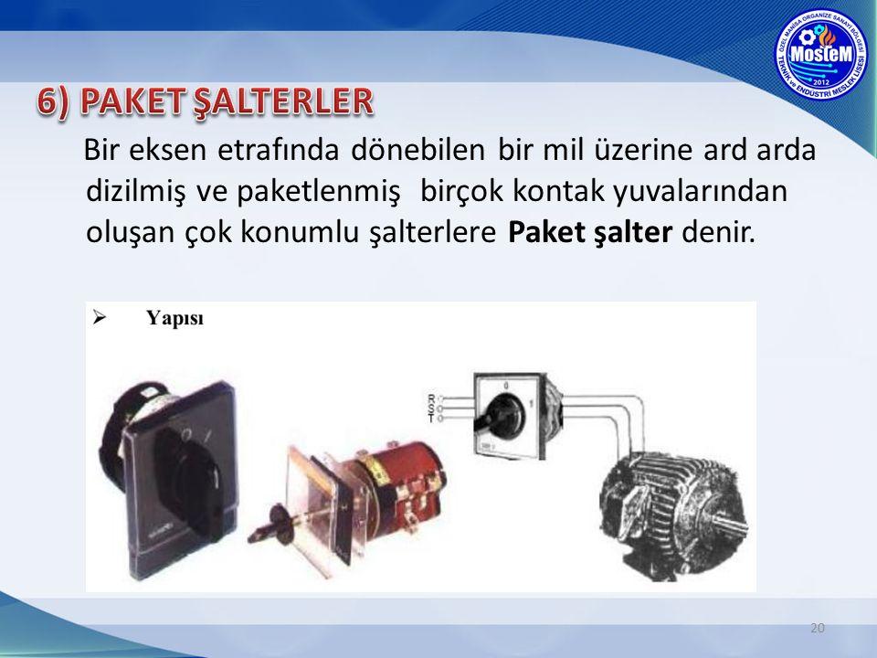 6) PAKET ŞALTERLER