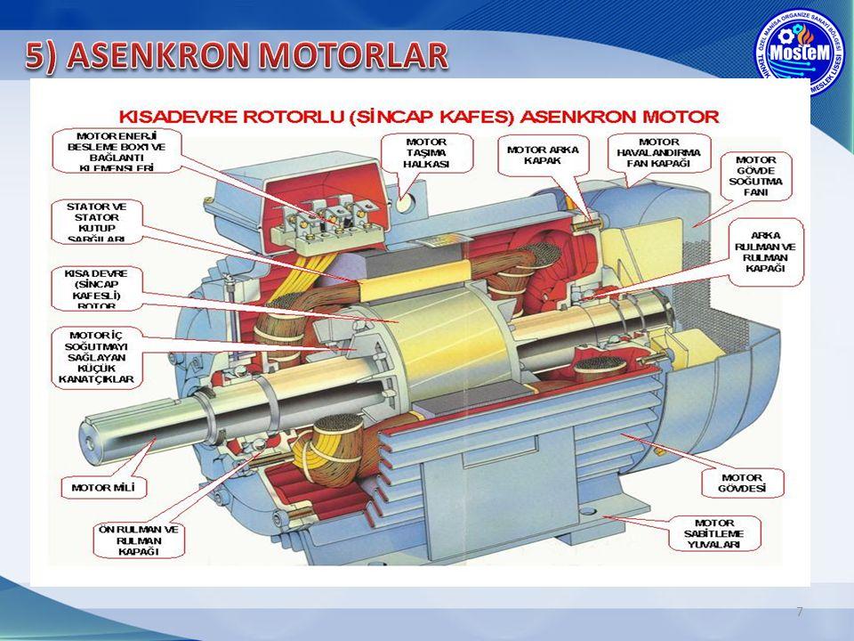 5) ASENKRON MOTORLAR