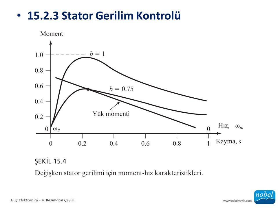 15.2.3 Stator Gerilim Kontrolü
