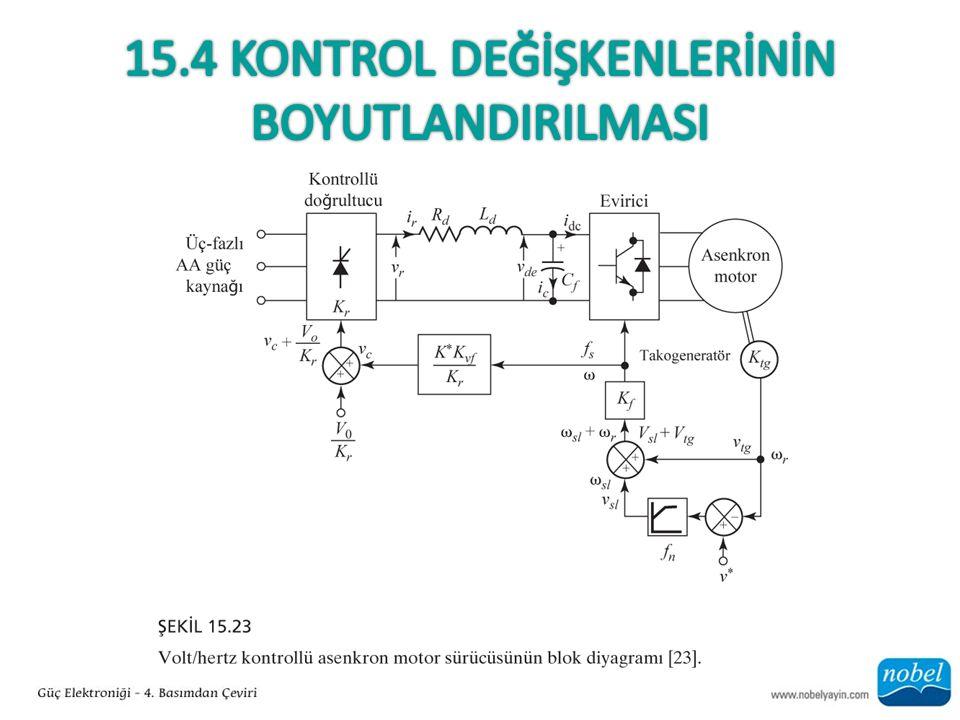 15.4 Kontrol DeğİşKENLERİNİN BOYUTLANDIRILMASI