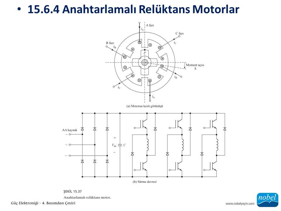 15.6.4 Anahtarlamalı Relüktans Motorlar