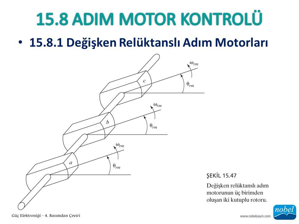15.8 AdIm Motor Kontrolü 15.8.1 Değişken Relüktanslı Adım Motorları
