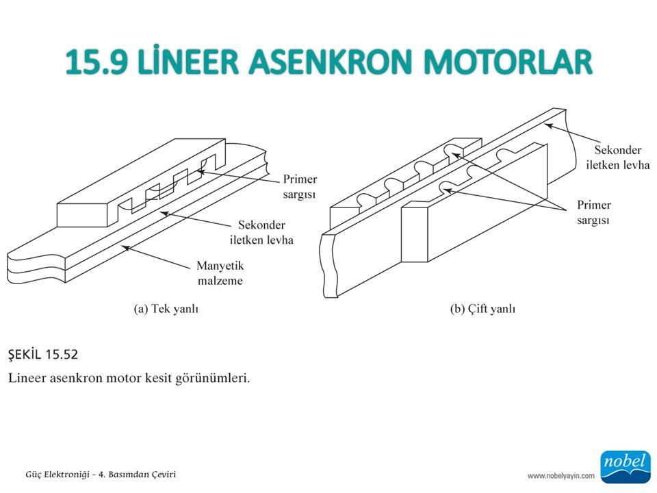 15.9 Lİneer Asenkron Motorlar
