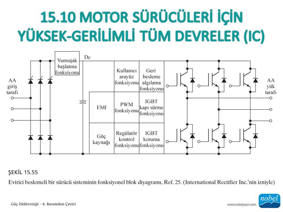 15.10 Motor Sürücülerİ İçİn Yüksek-GERİLİMLİ Tüm devreler (Ic)