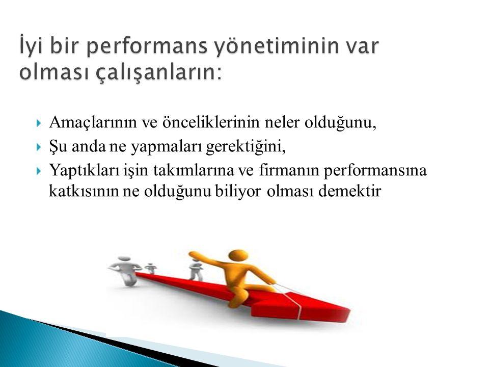 İyi bir performans yönetiminin var olması çalışanların: