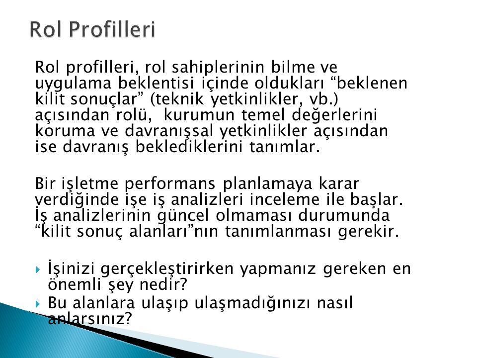 Rol Profilleri