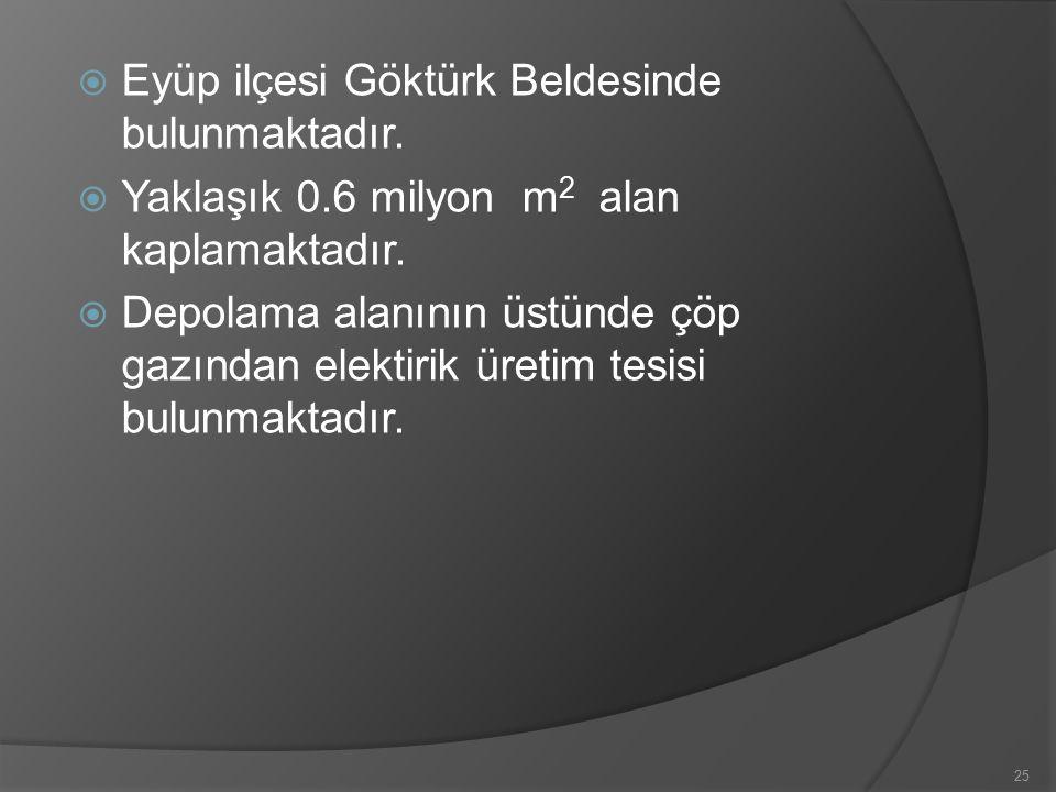 Eyüp ilçesi Göktürk Beldesinde bulunmaktadır.