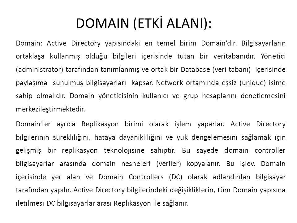 DOMAIN (ETKİ ALANI):