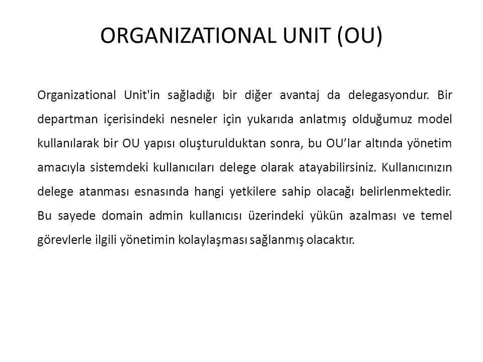 ORGANIZATIONAL UNIT (OU)