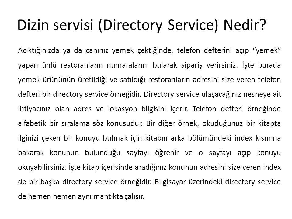 Dizin servisi (Directory Service) Nedir