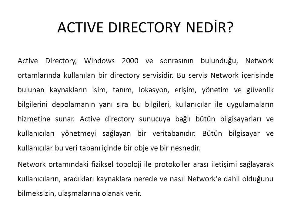 ACTIVE DIRECTORY NEDİR
