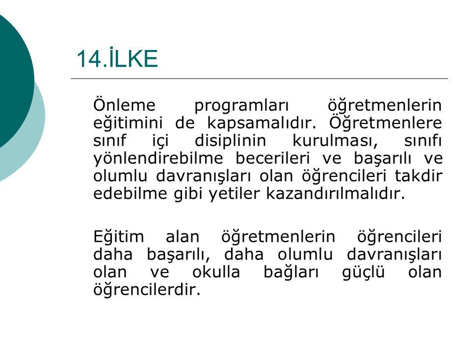 14.İLKE
