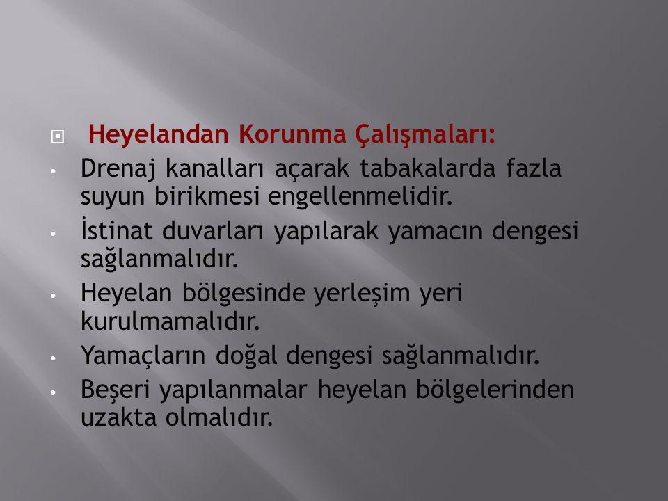 Heyelandan Korunma Çalışmaları: